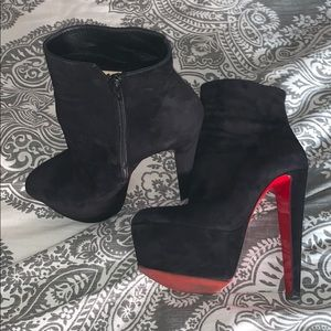 Christian Louboutin Black suede booties